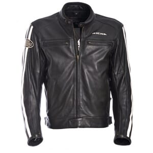 Richa Retro Racing Skinnjakke Black