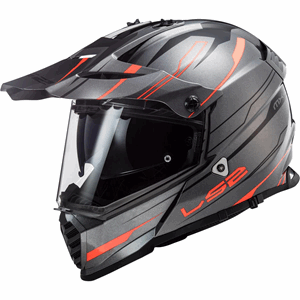 LS2 MX436 Pioneer Evo Knight Black/Orange