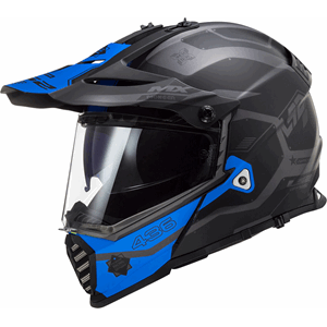 LS2 MX436 Pioneer Evo Cobra Black/Silv/Blue