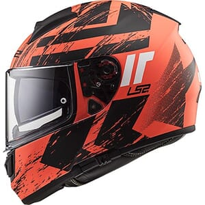 LS2 FF397 Vector Hunter Matt Orange Black