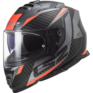 LS2 FF800 Storm Racer Black/Orange