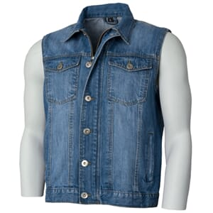 Bullfighter Denim Vest Blå